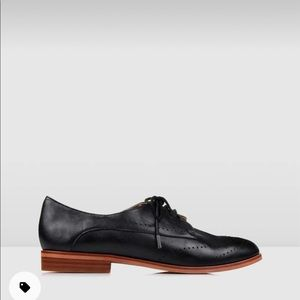 Vera Lace Up Black Leather